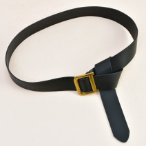 Belt / belt / chain Pu (artificial leather) Beixing Brown Black female Waistband Versatile Single loop Youth, middle age and old age Geometric pattern soft surface 3.5cm alloy alone Cold weapon LBQ0225 Winter of 2019