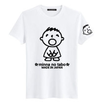 T-shirt White, black S,M,L,XL,2XL Summer of 2018 Crew neck Straight cylinder Regular routine cotton 86% (inclusive) -95% (inclusive) Cartoon animation Other / other
