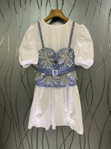 Dress Autumn 2020 White, blue S,M,L 25-29 years old 31% (inclusive) - 50% (inclusive)
