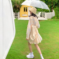 Fashion suit Summer 2020 S,M,L Sand shirt, sand skirt 18-25 years old GOKOTTA 116172;116173 96% and above polyester fiber