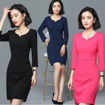 Professional dress suit S,M,L,XL,XXL,XXXL,4XL Summer of 2018 Short sleeve Other styles Suit skirt 25-35 years old Other / other 51% (inclusive) - 70% (inclusive) cotton