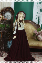 BJD doll zone Dress 1/3 Over 14 years old Customized Dark red SD10, MSD ordinary 4-point size, sd16 female, sdgr female / sd13 female, ipeid big chest big female, IPSID big chest big female, other sizes can be customized (male size can be set)