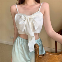 Vest sling Summer 2021 White, blue Average size singleton  have cash less than that is registered in the accounts Self cultivation Sweet camisole Solid color Under 17 31% (inclusive) - 50% (inclusive) cotton RP