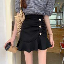 skirt Summer 2021 S,M,L White, purple, yellow, black Short skirt Sweet Under 17 jb 71% (inclusive) - 80% (inclusive) solar system