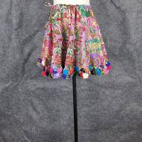 skirt Summer 2021 Average size Short skirt commute Natural waist Umbrella skirt Decor Type A 25-29 years old More than 95% Yuduo cotton ethnic style
