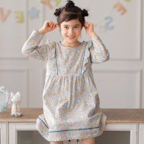 Home skirt / Nightgown ME JU 110cm,120cm,130cm,140cm,150cm Cotton 100% Nanxing spring and autumn female 11-13 years old, 1-3 years old, 3-5 years old, 5-7 years old, 7-9 years old, 9-11 years old Anti static, moisture absorption and perspiration, at home Class B Pure cotton (100% cotton content)