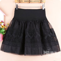 skirt Winter of 2019 M11 is for a waist of 1'9 to 2'1, L13 is for a waist of 2'2 to 2'4, XL15 is for a waist of 2'4 to 2'6 Black a, black B, black C, black D, black e, black F, decor G Short skirt Versatile High waist Fluffy skirt Solid color Type A 71% (inclusive) - 80% (inclusive) Lace cotton