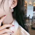Earrings Alloy / silver / gold RMB 20-24.99 brand new female Japan and South Korea goods in stock Fresh out of the oven Alloy inlaid artificial gem / semi gem other