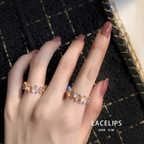 Ring / ring Alloy / silver / gold 10-19.99 yuan brand new goods in stock Japan and South Korea female Fresh out of the oven Gold Plated inlaid artificial gem / semi gem Plants and flowers