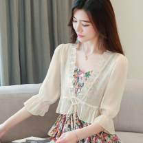 Outdoor casual suit Meeting simay female 51-100 yuan Hangtag * undetermined S,M,L,XL,2XL White, light apricot summer Summer 2020 other