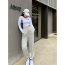 Casual pants Black, gray M,L,XL,2XL Autumn 2020 trousers High waist street routine 18-24 years old 96% and above FB9039 cotton cotton