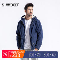 cotton-padded clothes Black Royal Blue Light army green Simwood 165/S 170/M 175/L 180/XL 185/XXL 190/XXXL Youth fashion thickening routine standard Other leisure Cotton 100% Hood youth zipper Simplicity in Europe and America Straight hem Autumn of 2019 Three dimensional bag winter