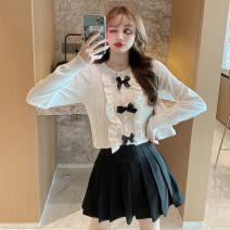 Fashion suit Spring 2021 S. M, l, average size White sweater, black sweater, black skirt 18-25 years old 71% (inclusive) - 80% (inclusive) acrylic fibres