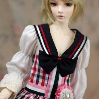 BJD doll zone Dress 1/3 Over 14 years old Customized Men's Plaid Shorts, women's Plaid Skirt 3-point suit, 3-point shoes MK 3 points clothes 3 points women's wear