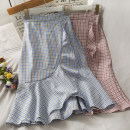 skirt Spring 2021 Average size Black, khaki, blue, green, turquoise, pink Mid length dress commute High waist Irregular Type A 18-24 years old A280450 30% and below other other Korean version