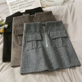 skirt Autumn 2020 S,M,L,XL Black, khaki, grey Short skirt 18-24 years old A279090 30% and below other other