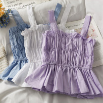 Vest sling Summer 2021 Blue, purple, white Average size singleton  have cash less than that is registered in the accounts Self cultivation camisole 18-24 years old 30% and below other A281344