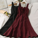 Dress Autumn 2020 Black, red, brown Average size longuette singleton  Long sleeves camisole 18-24 years old A279514 30% and below other other