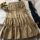 skirt Summer 2021 Average size Short skirt Versatile High waist A-line skirt Solid color 18-24 years old 30% and below other other