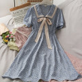 Dress Summer 2021 Blue, yellow, white, black, pink Average size Mid length dress singleton  Long sleeves V-neck High waist A-line skirt 18-24 years old A280877 30% and below other other