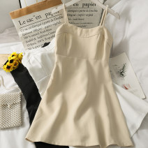 Dress Summer 2021 Apricot, black, white M, L Short skirt singleton  Sleeveless camisole 18-24 years old 30% and below other other