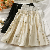 skirt Summer 2021 Average size Apricot, white, black Short skirt Versatile High waist A-line skirt 18-24 years old A281521 30% and below other other