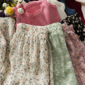 skirt Summer 2021 Average size 8 beibai, 9 black, 11 black, 12 green, 13 pink, 14 apricot Mid length dress Versatile High waist Ruffle Skirt Broken flowers 18-24 years old A281210 30% and below other