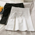 skirt Summer 2021 S,M,L,XL White, black Short skirt High waist A-line skirt 18-24 years old A281291 30% and below other other