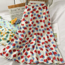 skirt Summer 2021 Average size Red, blue, green longuette High waist A-line skirt 18-24 years old A281491 30% and below other