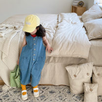 trousers Other / other female 80cm,90cm,100cm,110cm,120cm,130cm,140cm Blue (collection and purchase, priority delivery) summer trousers Korean version There are models in the real shooting Jumpsuits Leather belt High waist cotton Don't open the crotch Cotton 95% other 5% other LTK001 Chinese Mainland