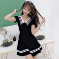 Dress Winter 2016 Black, white, red, green, new green, new black, new pink, new white M,XL,L,S Middle-skirt singleton  Short sleeve Sweet middle-waisted Solid color Socket Big swing routine 18-24 years old Type A college