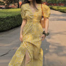 Women's large Summer 2020 yellow S M L XL 2XL 3XL Dress commute Korean version H-F0928 Little IDA's flower 18-24 years old Other 100% Pure e-commerce (online only)