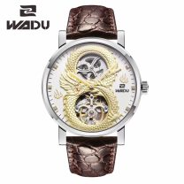 Wristwatch Grip Mechanical movement - automatic mechanical movement National joint insurance male genuine leather domestic 100ATM stainless steel Synthetic sapphire watch mirror 12mm 43mm Flying dragon circular personality Pointer type brand new Pin buckle To the bottom ordinary Hollowing out Japan