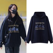 Sweater / sweater Winter 2020 Navy [hooded], blue [hooded], blue '[crew neck] M,L,XL Long sleeves routine Socket singleton  Plush Hood easy commute routine Cartoon animation 18-24 years old 31% (inclusive) - 50% (inclusive) Korean version cotton Embroidery, 3D, Drawstring cotton Cotton liner