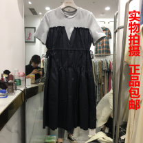 Dress Summer 2021 Black grey M, L Mid length dress singleton  2121D1252