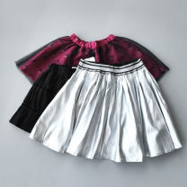 skirt 110cm,130cm,140cm,150cm Purple, black, silver, pink orange, corduroy and jujube skirt Other / other female Other 100% spring and autumn skirt Solid color cotton