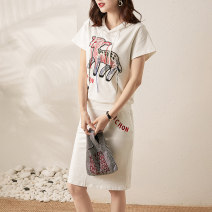 Fashion suit Summer 2021 S,M,L,XL White, gray 25-35 years old 91% (inclusive) - 95% (inclusive) cotton