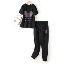 Casual suit Summer 2020 S [70 ~ 80 Jin], m [80 ~ 90 Jin], l [90 ~ 100 Jin], XL [110 ~ 130 Jin], 2XL [140 ~ 160 Jin], 3XL [170 ~ 190 Jin], 4XL [200 ~ 220 Jin], 5XL [220 ~ 250 Jin] Cai Xiana 96% and above cotton