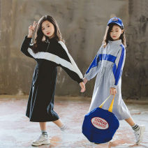 Dress Black, grey, black plush, grey plush female Other / other 110cm,120cm,130cm,140cm,150cm,160cm,165cm Other 100% winter Korean version Long sleeves stripe other Splicing style Class B 2, 3, 4, 5, 6, 7, 8, 9, 10, 11, 12, 13, 14 years old