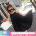 Dress Summer 2016 black M in stock Middle-skirt singleton  Sleeveless commute other Loose waist Solid color Socket Irregular skirt other camisole 25-29 years old Type A OLrain lady backless More than 95% other polyester fiber