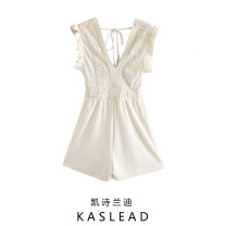 Jumpsuit / pants 71% (inclusive) - 80% (inclusive) shorts other High waist street Off white XS,S,M,L Summer 2020