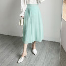 skirt Spring 2021 Average size Black, green, beige Mid length dress Versatile other Dot Type H 25-29 years old XF other Other / other