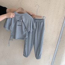suit Other / other grey 100cm,110cm,120cm,130cm,140cm female spring and autumn leisure time There are models in the real shooting nothing stripe other Other 100% 7 years old, 8 years old, 3 years old, 6 years old, 18 months old, 2 years old, 5 years old, 4 years old Chinese Mainland