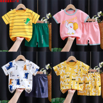 suit Linkcard 73cm,80cm.,90cm.,100cm.,110cm.,120cm.,130cm. neutral summer leisure time other routine There are models in the real shooting stripe cotton KDT40 Class A 8 years old Chinese Mainland