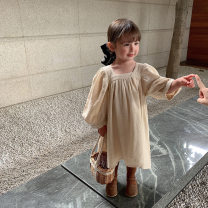 Dress Dark green, beige female Other / other 80cm,90cm,100cm,110cm,120cm,130cm Other 100% spring and autumn Korean version Long sleeves Solid color other Cake skirt C2139QZ Class B 2 years old, 3 years old, 4 years old, 5 years old, 6 years old, 7 years old Chinese Mainland Zhejiang Province