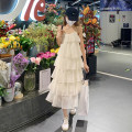 Dress Summer 2021 Off white Average size Mid length dress singleton  Sleeveless commute V-neck middle-waisted Solid color Socket A-line skirt other camisole 18-24 years old Type A Korean version 30% and below other other