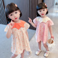 Dress Apricot, pink female Other / other Size 80 (height 70-78cm, age 1), Size 90 (height 78-87cm, age 1-2), size 100 (height 88-97cm, age 2-3), Size 110 (height 98-107cm, age 3-4), Size 130 (height 118-130cm, age 5-6), Size 120 (height 108-117cm, age 4-5) Other 100% summer princess Short sleeve
