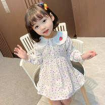 Dress Violet, red female Other / other Size 90 (height 78-87cm, age 1-2), size 100 (height 88-97cm, age 2-3), Size 110 (height 98-107cm, age 3-4), Size 120 (height 108-117cm, age 4-5), Size 130 (height 118-130cm, age 5-6) Other 100% spring and autumn princess Long sleeves Solid color cotton Class B