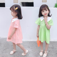 Dress Green, pink female Other / other Size 80 (height 70-78cm, age 1), Size 90 (height 78-87cm, age 1-2), size 100 (height 88-97cm, age 2-3), Size 110 (height 98-107cm, age 3-4), Size 120 (height 108-117cm, age 4-5), Size 130 (height 118-130cm, age 5-6) Other 100% summer princess Short sleeve cotton