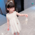 Dress white female Other / other Size 80 (height 70-78cm, age 1), Size 90 (height 78-87cm, age 1-2), size 100 (height 88-97cm, age 2-3), Size 110 (height 98-107cm, age 3-4), Size 120 (height 108-117cm, age 4-5), Size 130 (height 118-130cm, age 5-6) Other 100% summer princess Short sleeve Solid color